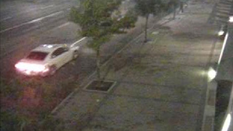 The Integrated Homicide Investigation Team is asking anyone who witnessed a white, late-model Dodge Charger with a sunroof near the Simon Fraser University campus in Surrey on Sept. 24 to come forward. (Handout)
