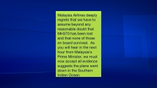 Malaysia Airlines text message