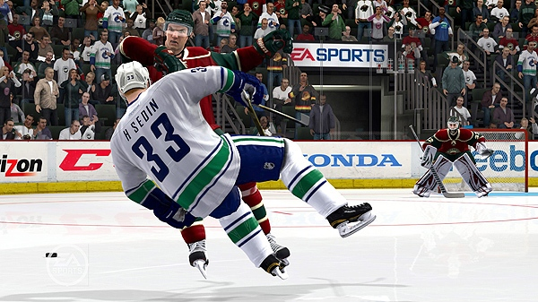 A screengrab from EA Sports NHL12 for Playstation 3 is shown in a handout photo. (THE CANADIAN PRESS/HO-Electronic Arts)