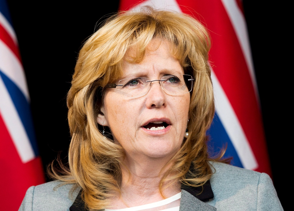 In this January 17, 2014 file photo, Linda Jeffrey speaks to the media in Mississauga, Ont. (Nathan Denette / THE CANADIAN PRESS)