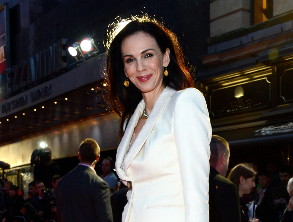 L'Wren Scott at the London Film Festival American Express Gala for 'The Rolling Stones - Crossfire Hurricane,' in London, Oct. 18, 2012. (Invision / Jon Furniss)