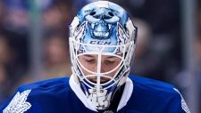 Leafs' Bernier still sore after Blues game