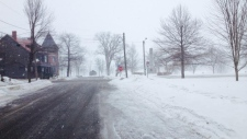 Snow storm in Fredericton