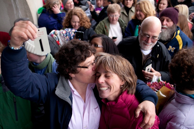 Same-sex marriage halted in Michigan