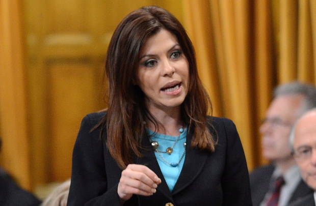 Eve Adams speaks during question period
