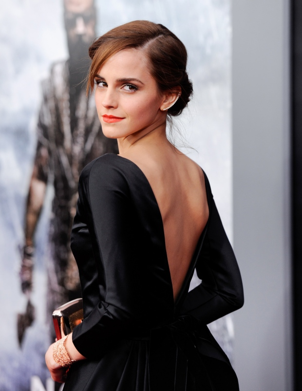 Actress Emma Watson attends the premiere of 'Noah'