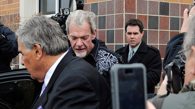 Jim Irsay, centre right, in Indianapolis