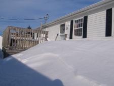 Snow storm in Moncton, N.B. Atlantic Canada