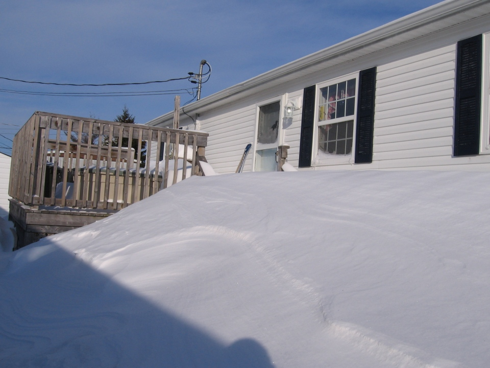 My News contributor Janet Hirtle in Moncton, N.B. had difficulty getting out of her home today thanks to Wednesday's snowfall, Thursday, March 27, 2014.