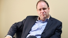 N.L. Liberal leader Kevin Alyward gives an interview at his office at the Confederation Building, in St. John's, N.L. on Tuesday Sept. 13, 2011. (THE CANADIAN PRESS/Paul Daly)