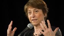 Quebec Solidaire leader Françoise David speaks to