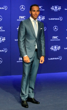 Formula One driver Lewis Hamilton in Malaysia