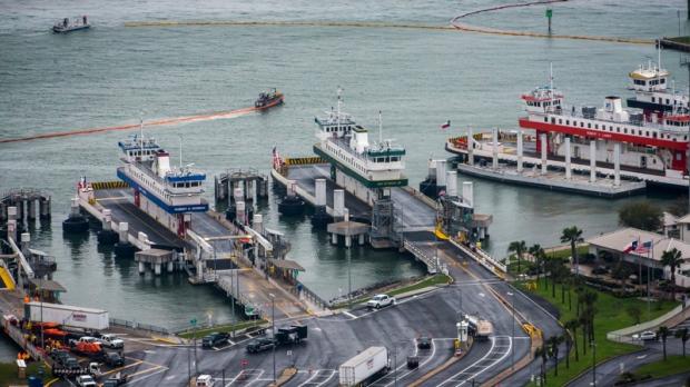 Galveston-Bolivar Ferry terminal in Galveston