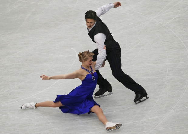 Kaitlyn Weaver and Andrew Poje 2nd in ice dance