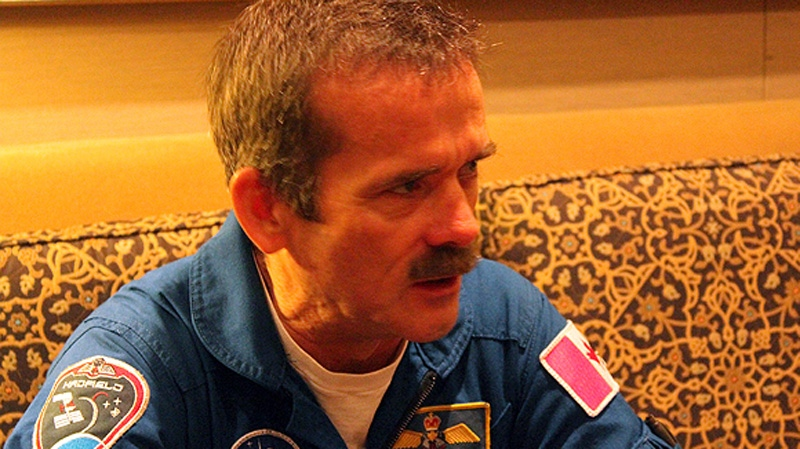 Canadian astronaut Col. Chris Hadfield speaks to CTVNews.ca before leaving for Star City, Russia to train to command International Space Station Expedition 35 (image: David Howard)