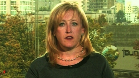 Labour Minister Lisa Raitt appears on CTV's Power Play on Tuesday, Oct. 11, 2011.