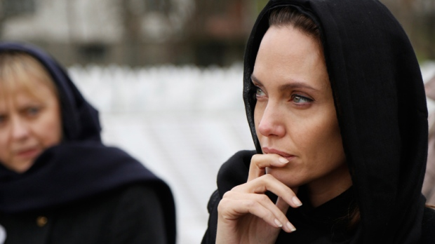 Angelina Jolie in Potocari, Bosnia