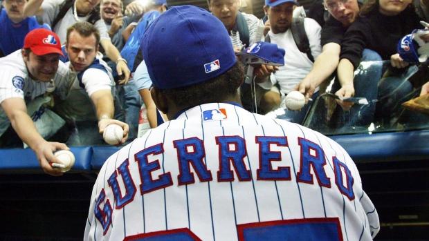 Montreal Expos rightfielder Vladimir Guerrero