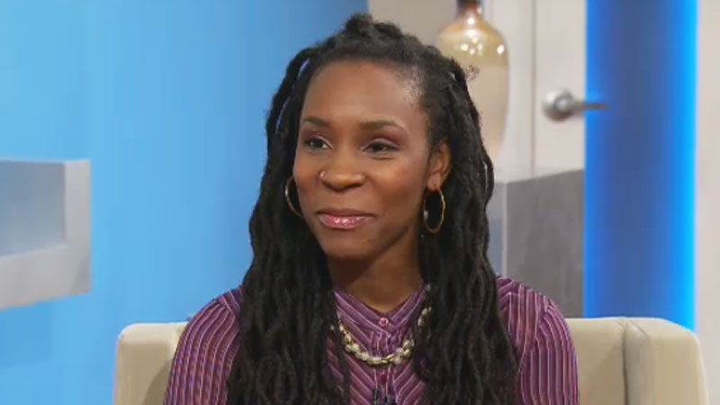 Queen Cee appears on CTV's Canada AM in Toronto on Friday, March 28, 2014.