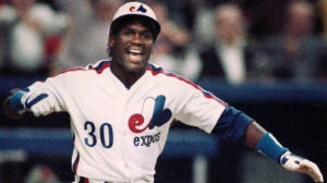 Montreal Expos' Tim Raines in a April 4, 1989 file photo. (THE CANADIAN PRESS/Bill Grimshaw)