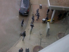 Police enter Brampton courthouse after shooting