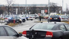 Police officer shot at Brampton courthouse