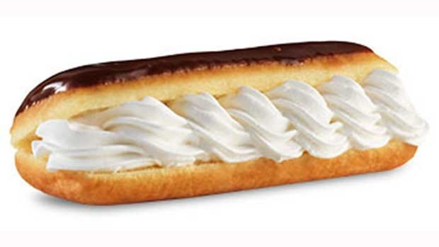 Tim Hortons announces the first menu item for its Bring It Back Campaign: The Eclair. To celebrate its 50th Anniversary, Tim Hortons is asking Canadians to help decide which beloved menu item from the past five decades will make its comeback.  (CNW Group/Tim Hortons)