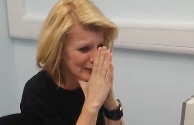 A viral video showing Joanne Milne hearing the human voice for the first time has gone viral, with more than a million YouTube views since it was published on Thursday. (YouTube)