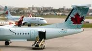 Air Canada planes land at Pierre Elliott Trudeau Airport