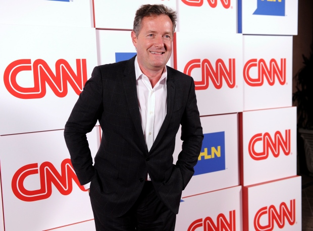 "This Jan. 10, 2014 file photo shows Piers Morgan of the CNN show ""Piers Morgan Live"" at the CNN Worldwide All-Star Party, in Pasadena, Calif. (Chris Pizzello/Invision/AP)"