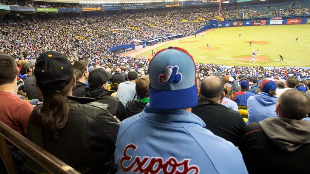 Baseball celebration in Montreal