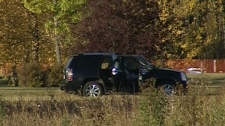An investigation is underway after two bodies were found in a vehicle in an Edmonton cemetery on Tuesday, Oct. 11, 2011.