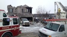 Douglas Glen house fire - neighbouring home