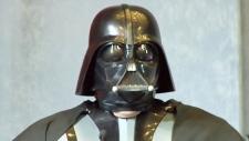Man dressed as Darth Vader in Ukraine