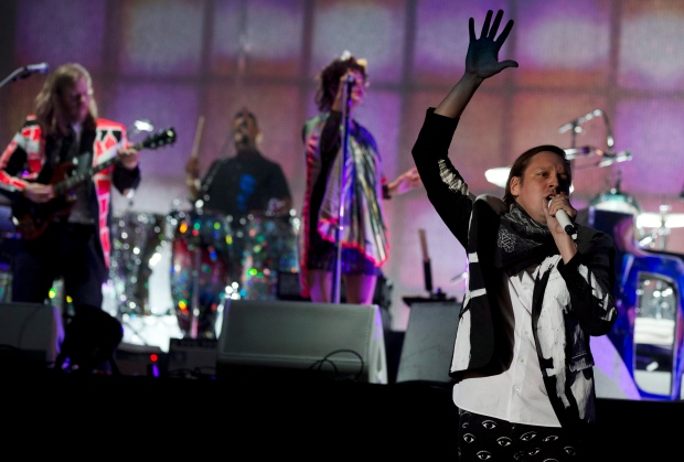 Arcade Fire performing in Mexico City