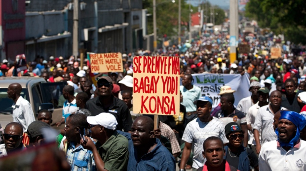 Demonstration in Port-au-Prince, Haiti
