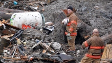 Personal items pulled from U.S. mudslide debris