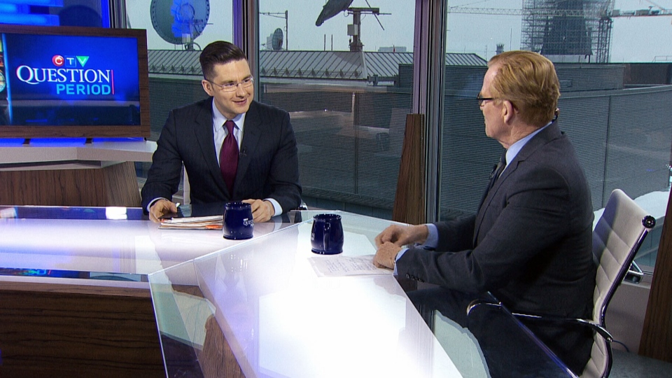 Minister of State for Democratic Reform Pierre Poilievre speaks on CTV's Question Period in an interview that aired on March 30, 2014.