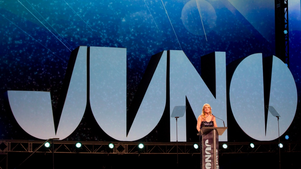 Canadian Academy of Recording Arts and Sciences President Melanie Berry is seen during the Juno Gala in Winnipeg on Saturday, March 29, 2014. (CP /John Woods)