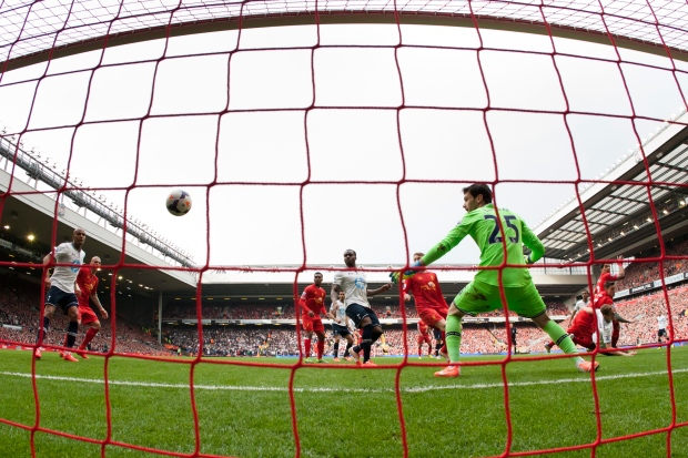 Liverpool beats Tottenham at Anfield Stadium