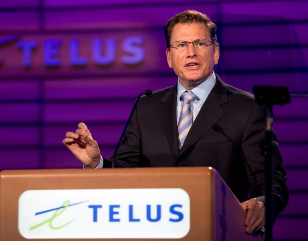 Telus chief executive Darren Entwistle