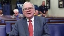 Warren Buffett is interviewed in the White House Briefing Room in Washington, Monday, July 18, 2011, following his meeting with President Barack Obama. (AP / Pablo Martinez Monsivais)