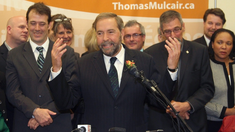 Thomas Mulcair announces his leadership bid for NDP