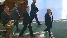 Andrea Horwath walks out of question period