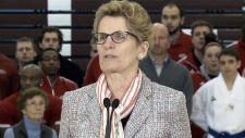 Premier Kathleen Wynne speaks in Sault Ste. Marie