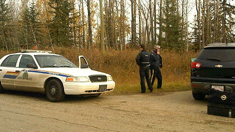 RCMP investigate a suspicious death, north-east of Spruce Grove on Thursday, October 13.