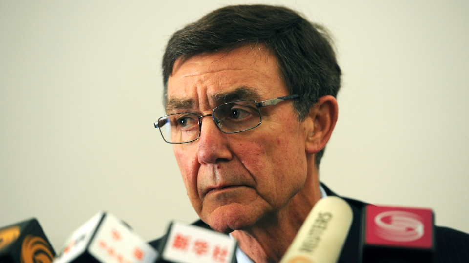 Former Australian defense chief Angus Houston, who heads the joint agency coordinating the multinational search effort for the missing Malaysia Airlines Flight 370, speaks at a press conference in Perth, Australia, Tuesday, April 1, 2014. (AP / Greg Wood)