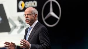 Dieter Zetsche, Daimler AG CEO, speaks at the 84. Geneva International Motor Show in Geneva, Switzerland, Tuesday, March 4, 2014. (AP / Keystone, Sandro Campardo)