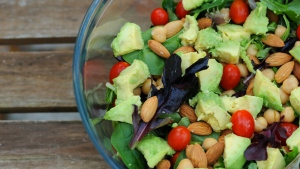 The DASH diet is high in fruits, vegetables and whole grains, and recommends a regular intake of nuts and beans.  (Beth Swanson / shutterstock.com)