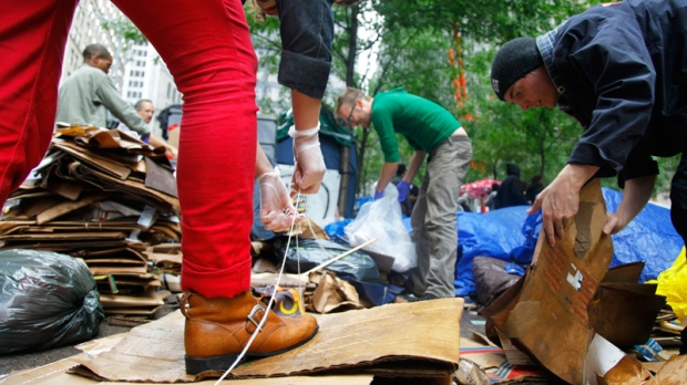 Protesters suspicious of Zucotti Park cleanup